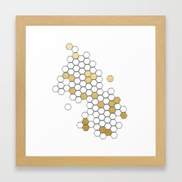 Honey Comb Framed Art Print