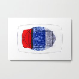 Blue and Red (with elipse and square) Metal Print