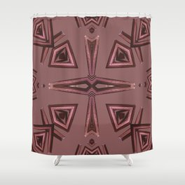 Red Kaleido Palm Shower Curtain