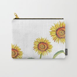 Watercolour Sunflower  Carry-All Pouch