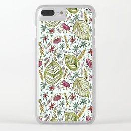 Tropical Rainforest pattern Clear iPhone Case