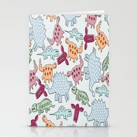 dinosaurs Stationery Cards featuring Dinosaurs  by MadexDesigns