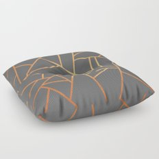 Copper And Grey Floor Pillow