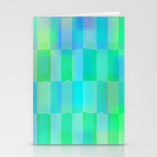 Aqua Pattern Stationery Cards