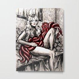 St. Tropez Babe Metal Print