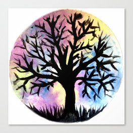 Watercolor tree Canvas Print
