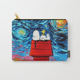 snoopy peanuts starry night Carry-All Pouch
