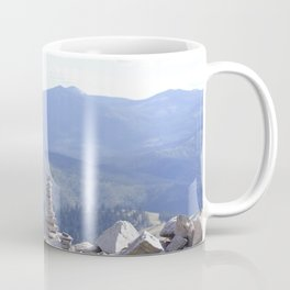 Rock Cairns Over the Mountain Coffee Mug