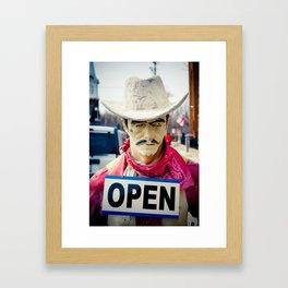 Cowboy OPEN Framed Art Print