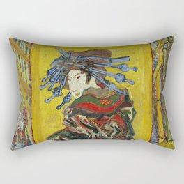 1887-Vincent van Gogh-Courtesan, after Eisen-60 x 105 Rectangular Pillow
