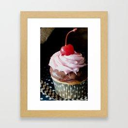 Cherry On Top Cupcake Framed Art Print