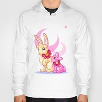sailormoon Hoodies featuring Moon Rabbits by Becky Hopkins