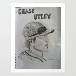 "Chase Utley ""The Man!"" Art Print"