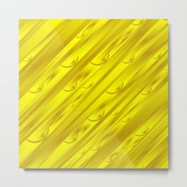 yellow abstract pattern in metal Metal Print