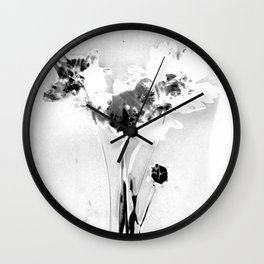 Floral Traces Wall Clock