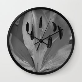 Asiatic Lily (mono) Wall Clock