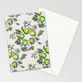 Summer's End - apples and pears Stationery Cards