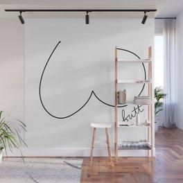 Butt Art | White Wall Mural