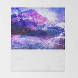 Abstract Mountain Landscape Throw Blanket