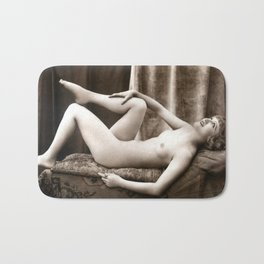 Vintage Nude Art Beauty No.106 of 250, from the Vintage Nude Arts Collection. Bath Mat