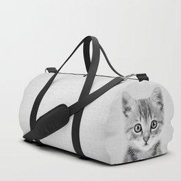 Kitten - Black & White Duffle Bag