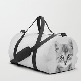 Kitten - Black & White Duffle Bag