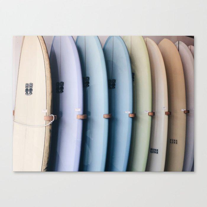 SURF'S UP / Los Angeles, California Leinwanddruck