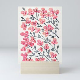 Cherry Blossoms – Pink & Black Palette Mini Art Print