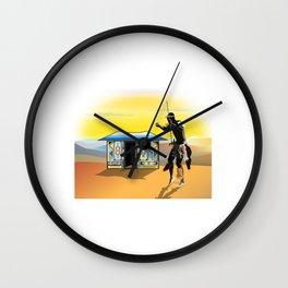 Ndebele Hut Wall Clock