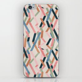 Straight Geometry Ribbons 1 iPhone Skin