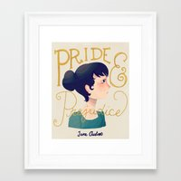 pride and prejudice Framed Art Prints featuring Pride and Prejudice by Nan Lawson