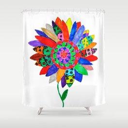 Mandala flower Veta Shower Curtain