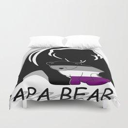 Papa Bear Asexual Duvet Cover