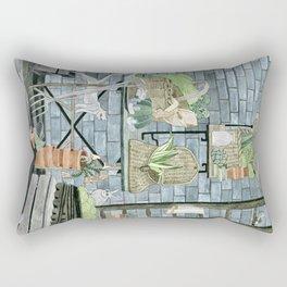 Garden Theme Rectangular Pillow