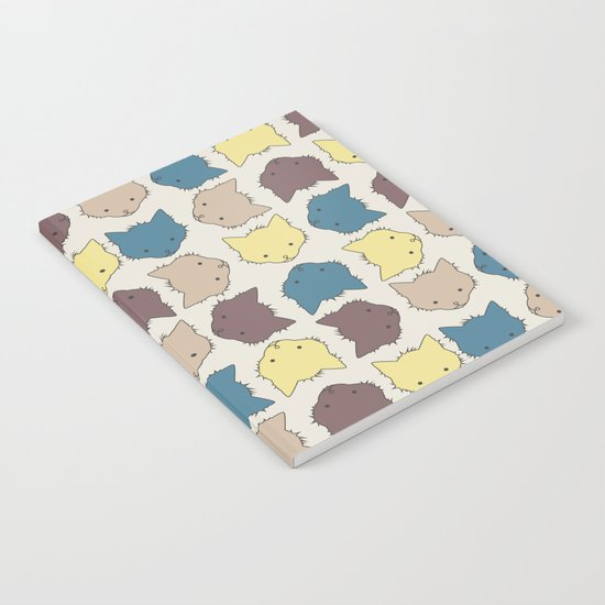 Pastel cat faces Notebook