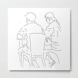 Finger Drawing - Couple Metal Print
