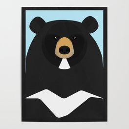 Asian black bear Poster