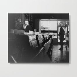 Record Store Afternoon Metal Print