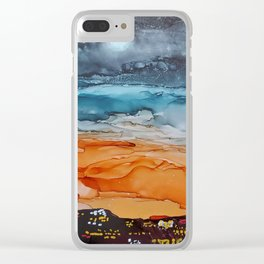 Sunrise in the City Clear iPhone Case