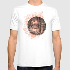 Trees near the river MEDIUM Mens Fitted Tee White