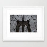 brooklyn bridge Framed Art Prints featuring Brooklyn Bridge by liberthine01