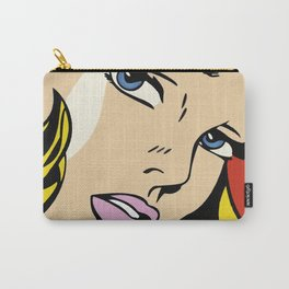 A vectorised and reworked pop art of Roy Lichtenstein Carry-All Pouch