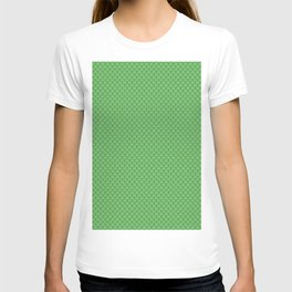 Spring Green Scales Pattern T-shirt