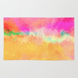 Modern Pastel Rainbow Cascade Abstract Rug