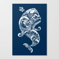dick Canvas Prints featuring The White Whale  by Peter Kramar