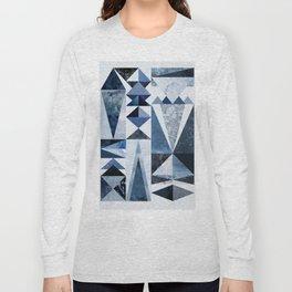 Blue Shapes Long Sleeve T-shirt