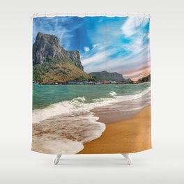 Ao Noi beach Thailand Shower Curtain