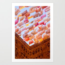 Colorful Tea Towels in the Wind Art Print