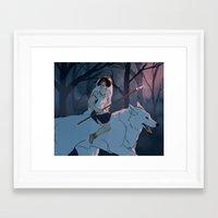 mononoke Framed Art Prints featuring mononoke by aiemmaes