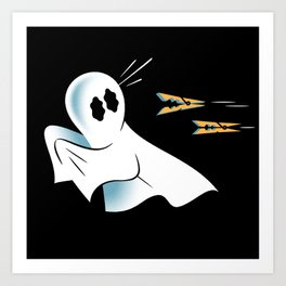 A Fearful Phantom (Black) Art Print